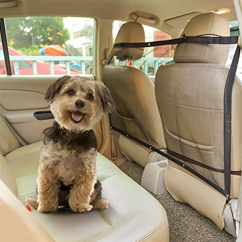 Nobleza Auto Hundenetz, Sicherheitsnetz, Trennnetz zwischen Haustier & Autofahrer, Autonetz Schutznetz für Hunde Haustier,ca.115 x 62cm