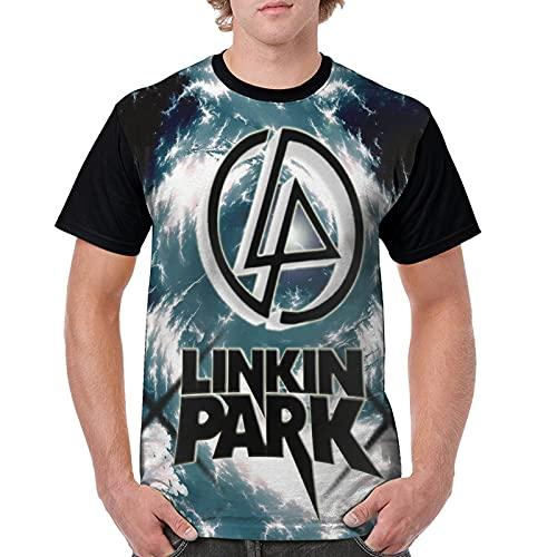 867 Qts-Hirt Lin-Kin Park - Camiseta de manga corta para hombre, Negro, XXL