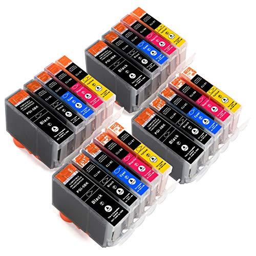 ESMOnline 20 komp. Druckerpatronen zu Canon PIXMA MP 500 520 530 600 600R 610 800 800R 810 830 iP 4200 4300 4500 6600D 5300 5200 6700D iX 5000 4000 Pro9000 Mark II MX 850 700