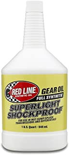 Red Line 58504 SuperLight ShockProof Gear Oil, 75W90 - 1 Quart Bottle