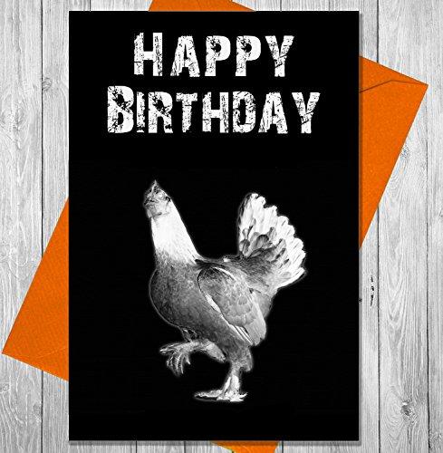 Verjaardagskaart Kip - Unieke Krijtbord Effect Wenskaart