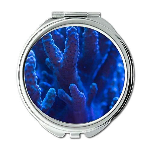 Yanteng Spiegel, Schminkspiegel, Aquarium Wasserkoralle, Taschenspiegel, tragbarer Spiegel