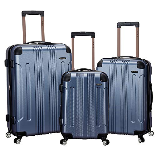 Rockland London Hardside Spinner Wheel Luggage, Blue, 3-Piece Set (20/24/28)