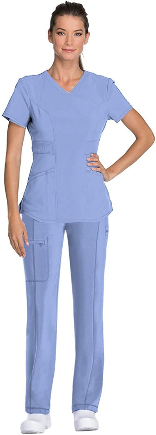 Cherokee Infinity Women's VNeck Top CK623A & Drawstring Pant 1123A Medical Scrub Set (Antimicrobial)