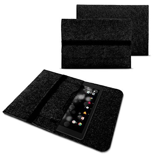 NAUC Tablet Tasche für ASUS Transformer Mini T102HA Filz Hülle Schutzhülle Case Cover, Farben:Dunkel Grau