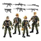 TOYANDONA 1 Set di Action Figures dell'Esercito Set di Soldati Militari Figure di Plastica...