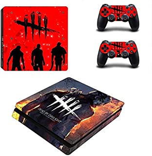 PS4 Slim Console Skin Set Vinyl Decals Stickers for Playstation 4 Slim Console Dualshock 2 Controllers Horror game (PS4 Slim Only) by Mr Wonderful Skin