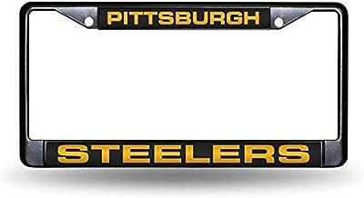 Rico Industries NFL Fan Shop Laser Cut Inlaid Standard Chrome License Plate Frame
