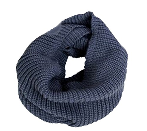 Spikerking Unisex Soft Thick Knitted Winter Warm Infinity Scarf