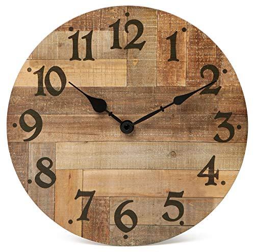 NIKKY HOME - Reloj de pared vintage para casa de campo, func