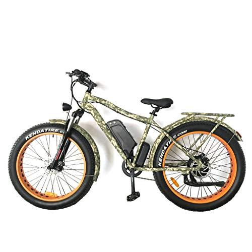 H&G Vélo de Montagne Electrique, 26 » 4.0 Gros Pneu Ebike Batterie au Lithium 48V 10.4Ah pour Adultes avec Moteur Haute Vitesse 1000W