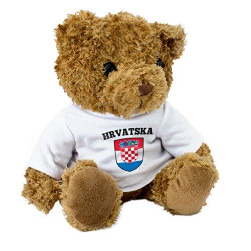 Teddybeer met vlag van Kroatië / Hrvatska – leuk en knuffelig – cadeau voor Kroatische fans