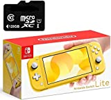 """Newest Nintendo Switch Lite Game Console, 5.5"""" Touchscreen, Built-in Plus Control Pad, Yellow, W/Hesvap 128GB Micro SD Card, Built-in Speakers, 3.5mm Audio Jack, Bluetooth 4.1, 0.61 lbs"""