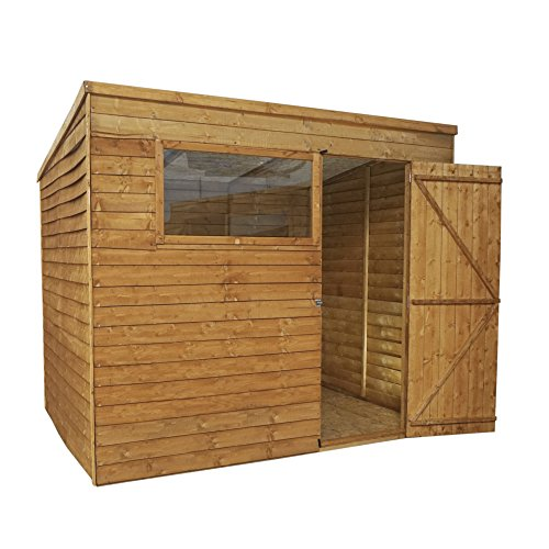 Waltons Wooden Garden Shed 8x6 Outdoor Storage Building, Pent Roof (8 x 6 / 8Ft x 6Ft)