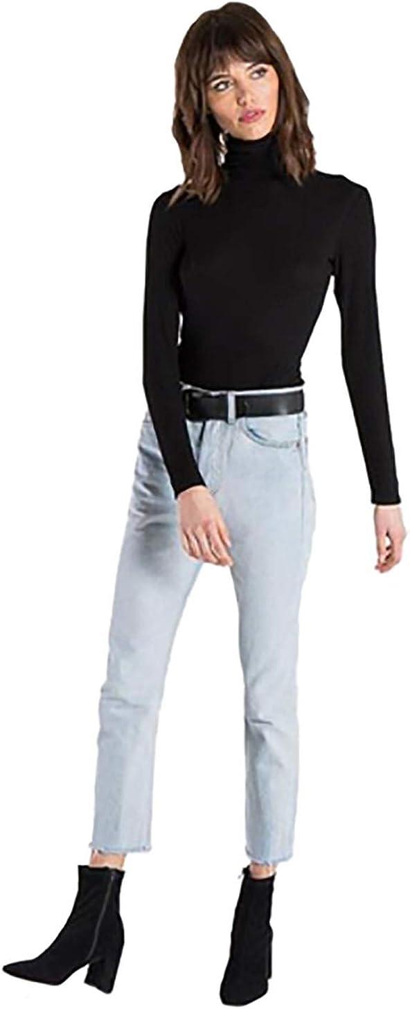 n:PHILANTHROPY Brooke Turtleneck Bodysuit in Black