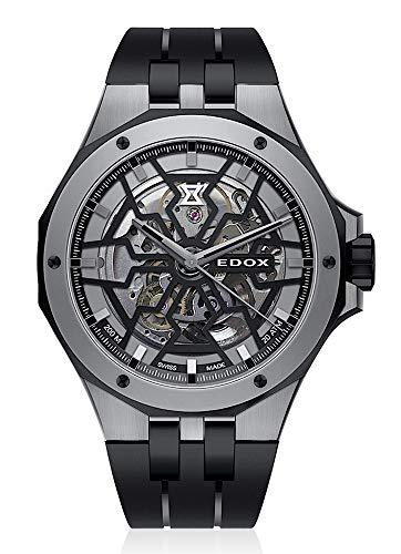 EDOX 85303 357GN NGN - Reloj de pulsera analógico para hombre