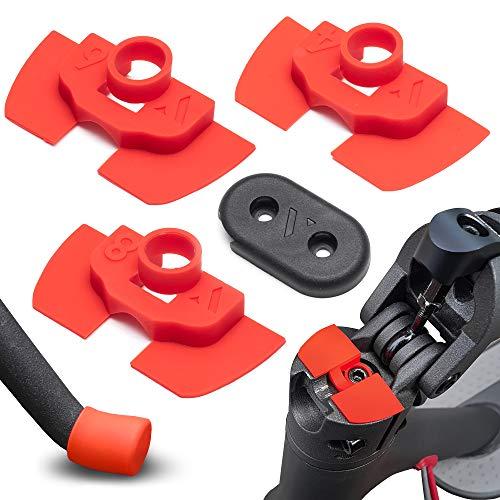 Amortiguador de Goma Flexible V2 Anti Holgura y Vibración Para Xiaomi Mijia M365 / Pro Scooter Eléctrico, Pieza Protección Led, M365 Accesorios, Patinete Electrico, Accesorios Mijia (Rojo)