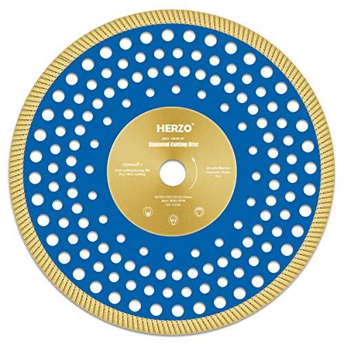 HERZO Professional Diamanttrennscheibe 230 mm, Premium Diamant-Trennscheibe für Fliese und Feinsteinzeug