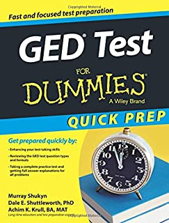 GED Test For Dummies, Quick Prep (For Dummies Series)