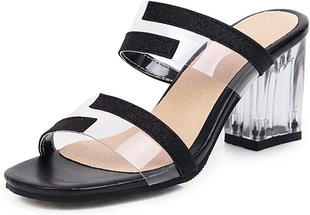 Skapee Women Sweet Sandals Slip on Open Toe Mules Shoes Size EU32-46
