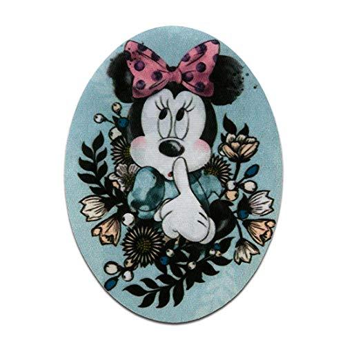 Disney © Mickey Mouse Set 2 Stück Minnie Maus - Aufnäher, Bügelbild, Aufbügler, Applikationen, Patches, Flicken, zum aufbügeln, Größe: 7 x 9,5 cm