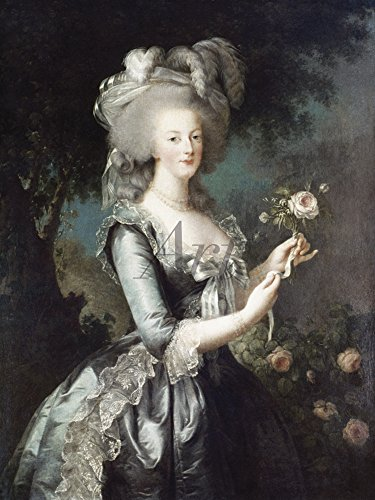 Artland Alte Meister Wandtattoo Louise Elisabeth Vigée-Lebrun Gemälde Kunstdruck 40 x 30 cm Marie Antoinette 1783 Wandbild Klassizismus C2XA