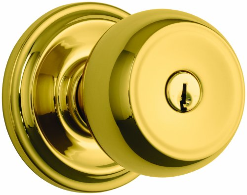 Great Features Of Brinks Home Security, 23001-105, Brass and Zinc, Polished Brass, Doorlock
