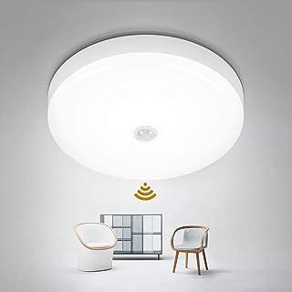 LifeBest Lámpara de Techo LED con Sensor de Movimiento, lámpara de Techo Moderna, luz de Techo empotrada para Cocina, Sala de Estar, Dormitorio, Pasillo y más