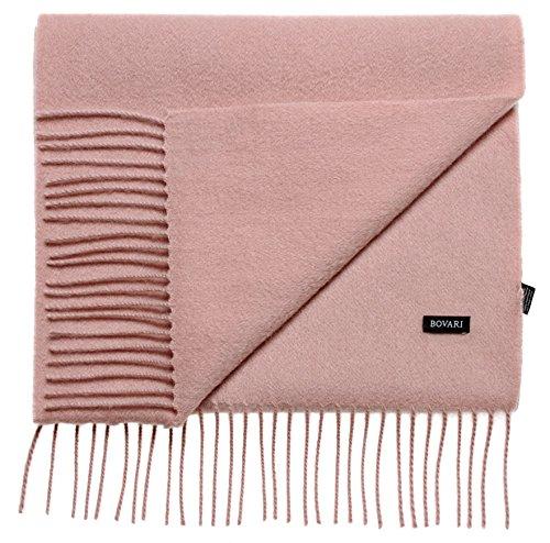 Bovari Kaschmir Schal Damen – 100% Kaschmir/Cashmere – Premium Qualität – 180 x 31 cm - viele Farben (Rosa (Nude))