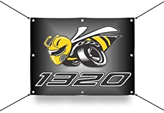 Detroit Shirt Company Dodge Scat Pack 1320 Angry Bee Wall Banner, Licensed & Authentic - Pick Your Size (Medium 24