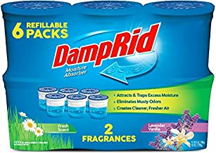 DampRid FG01FSLV33C Moisture Absorber Odor Eliminator,Lavender and Vanilla, 6 pack