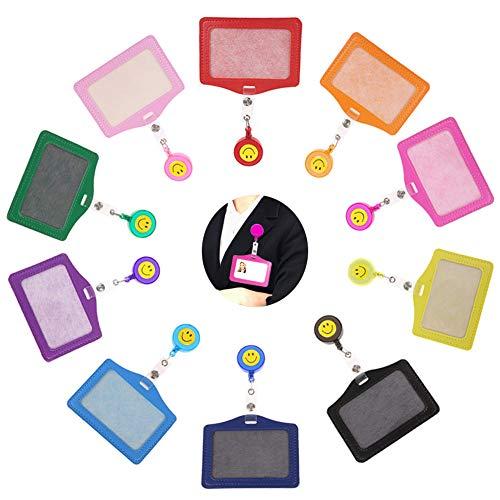 INTVN Ausweishülle mit einziehbare Ausweis jojo Ausweishalter ID-Kartenhalter Tragbare ID Abzeichen Halter für Geschäftsereignisse, Ausstellungen, Büro und Schulbedarf 10 Stück