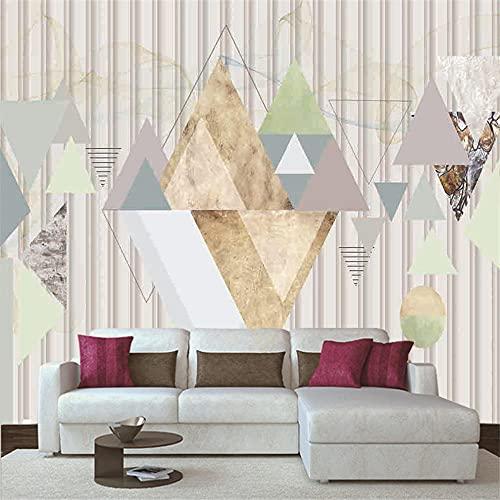 Papel Pintado 3D Murales 400x280 cm - 8 tiras- Fotomurales para Salón Natural Landscape Foto Mural Pared, Dormitorio Corredor Oficina Moderno Festival Mural Triángulo de color