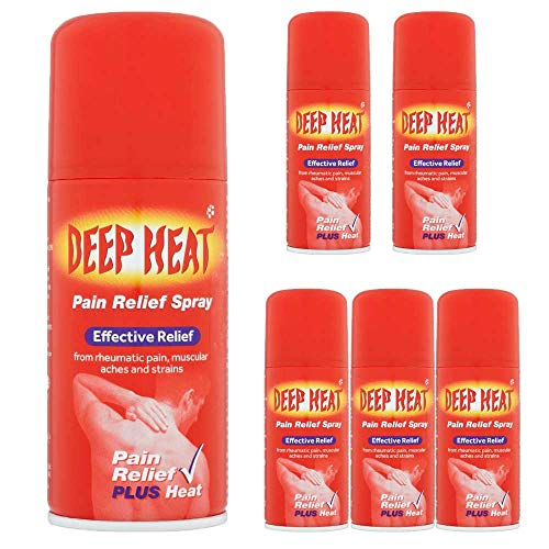 6 x 150ml Deep Heat Effective Spray Rheumatic Muscular Strains