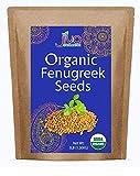 Organic Fenugreek Whole Methi Seeds 3 lb - Non GMO & Gluten Free - Supports Hair Growth, Breastfeeding, and Digestion- by Jiva Organics