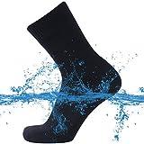 SuMade Waterproof Socks, Boys Girls Lightweight Athletic Insulated Outdoor Recreation Feet Dry Cushioned Wading Canyoning Socks Hiking Wading Kayaking Rain Water Socks 1 Pair (Black, X-Small)