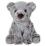 charaHOME Teddy Bear Stuffed Animal Plush Toy, Grey, Soft Cuddly, Gifts for Kids, 8'', Tiny Bear for Baby