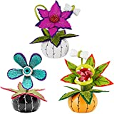 ATDAWN Halloween Table Decorations, Set of 3 Halloween Flowers Decoration, Halloween Table Centerpieces, Artificial Corpse Flowers for Halloween Indoor Home Tabletop Haunted House Decorations
