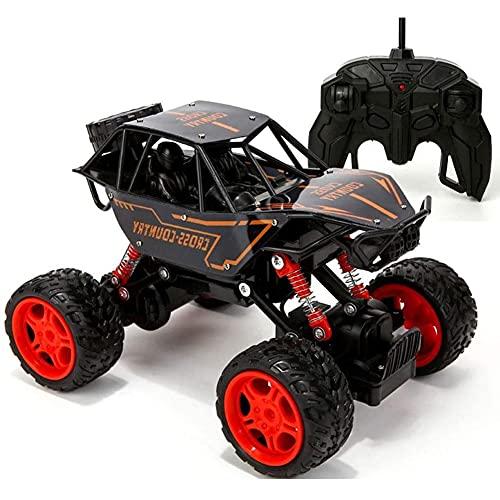 GRTVF All Terrain RC Car, 1/16 Scale Remote Control Car, Bigfoot Recargable Escalada RC Truck, Anti-Collision y Gota Resistencia, 4x4 Amortiguador, Regalos para Adultos Chicos (Color : Negro)