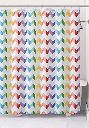 VCNY Home Pride Fabric Rainbow Chevron Design Shower Curtain