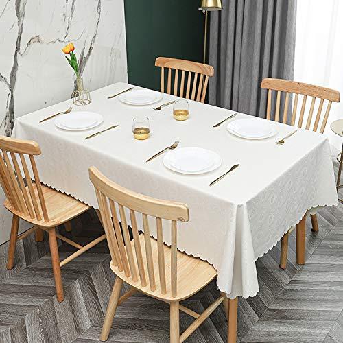 WHDJ Nappes en PVC, Nappe étanche à l'huile Anti-dérapante Anti-brûlure essuyez la Couverture de Table Propre pour la Maison et Le Restaurant
