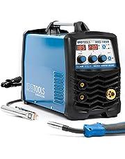IPOTOOLS MIG-185R inverter lasapparaat MIG MAG - beschermgas lasapparaat met 185 ampère ook FLUX/vuldraad en elektroden geschikt met/E-hand/digitaal display/IGBT/230 V/7 jaar garantie
