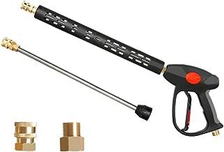 Atmozon Long Pressure Washer Spray Gun, Replacement Lance Extension Wand,Adjustable Length High Pressure Washer Gun,M22 14 Thread,M22 15 Coupler,4000PSI
