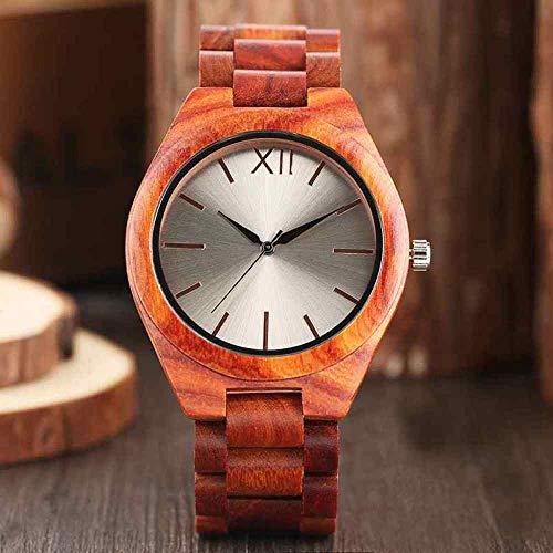 WFE&QFN Hölzerne Uhr 2019 Herren Holz Uhren original voll Holz armreif Quarz armbanduhren männlich natürlich analog