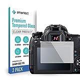 smartect Cristal Templado para Móvil Canon EOS 77D [2 Unidades] - Protector de pantalla 9H - Diseño ultrafino - Instalación sin burbujas - Anti-huella