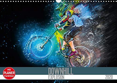 Downhill Explosion (Wandkalender 2020 DIN A3 quer): Zwölf einzigartig farbgewaltige Bilder von Downhillbikes und ihren Fahrern (Geburtstagskalender, 14 Seiten ) (CALVENDO Sport)