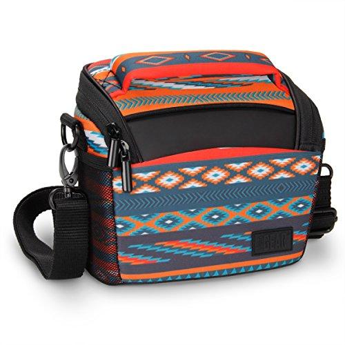 USA Gear Borsa a Tracolla Piccola Custodia da Viaggio Sacchetto per Fotocamera Digitale Compatta e DSLR Adatta a Canon EOS M , Powershot / Sony DSC-H300 , Nikon Coolpix L340 , Panasonic Lumix e Altri