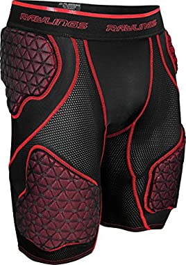 Rawlings Sporting Goods Men's 5-Pad D-Flexion Compression Shorts