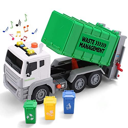 JOYIN 12.5' Garbage Truck Toy Friction-Powered Waste Management...