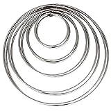 LYTIVAGEN Anillo de metal Macrame de 5 piezas para atrapasueños, anillos circulares para atrapasueños en 5 tamaños